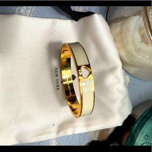 EUC Kate Spade ♠️ Hole Punch Bangle Bracelet White